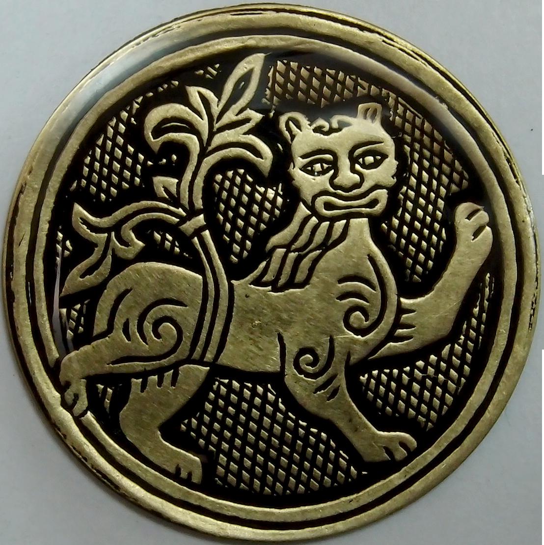 Магнит «Лев с процветшим хвостом»