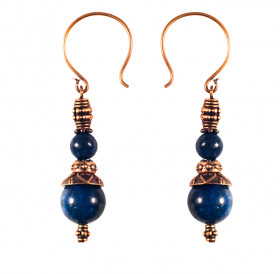 Single earrings №1 with lapis lazuli