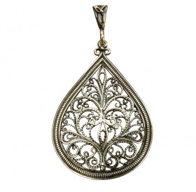 """Slotted pendant """"Snow Patterns"""""""