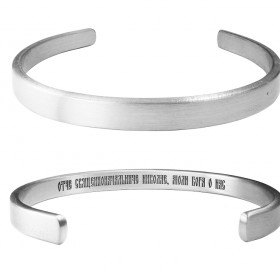 "Hard bracelet thickness 2.5 mm ""Prayer to Mother Matrona"" (text inside)"