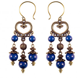 "Earrings ""Princely"" No. 1 with lapis lazuli"