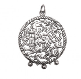"""Slotted pendant """"Unknown animal"""""""