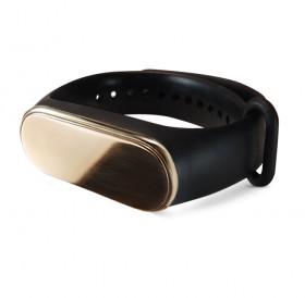 Силиконовый браслет с латунной вставкой без текста