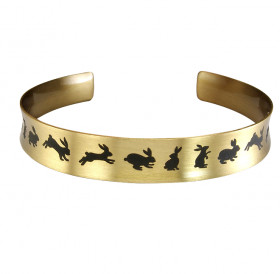 "Bracelet-motivator concave ""Hares"""