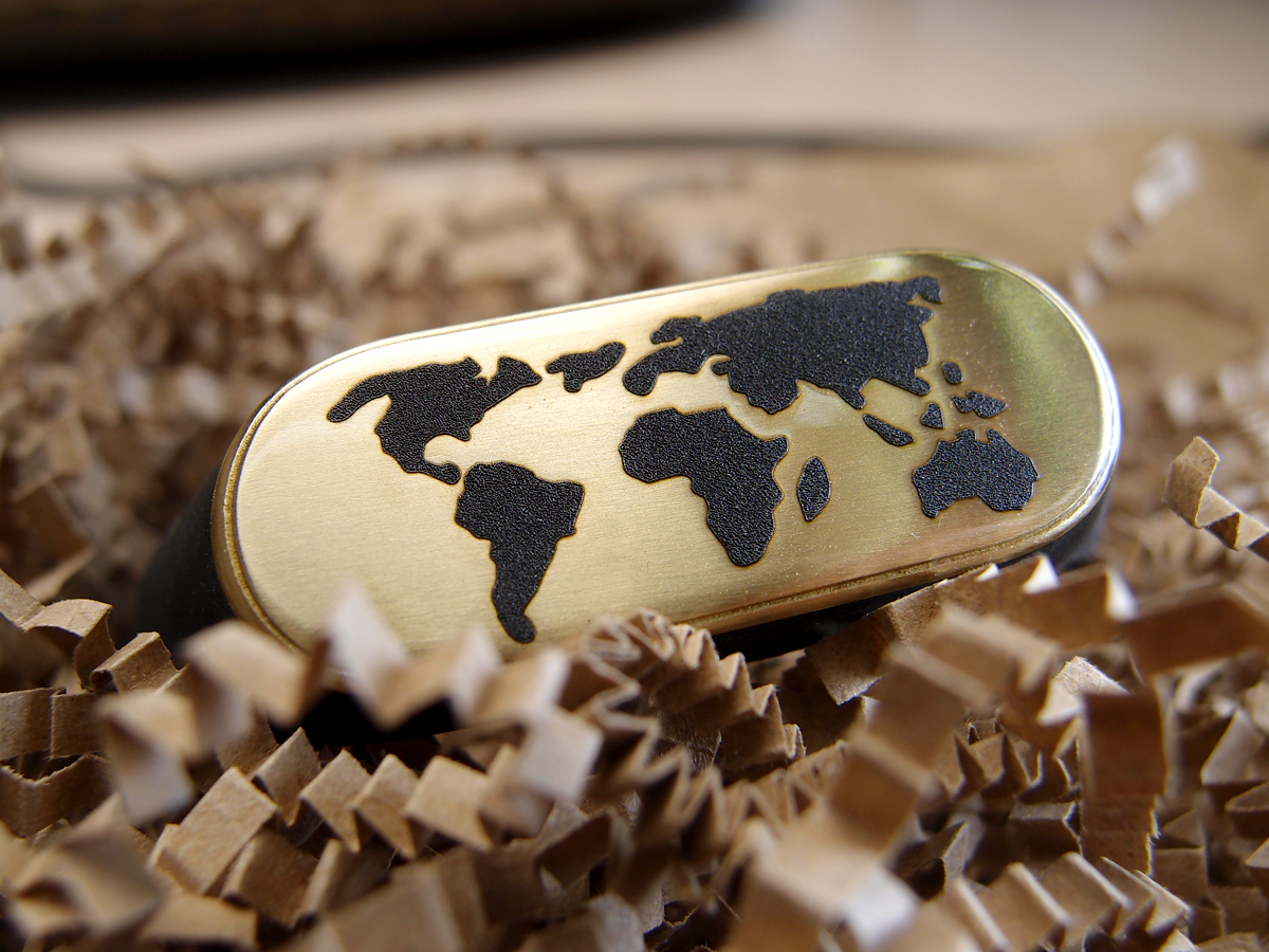 """Silicone bracelet """"Map of the world"""""""