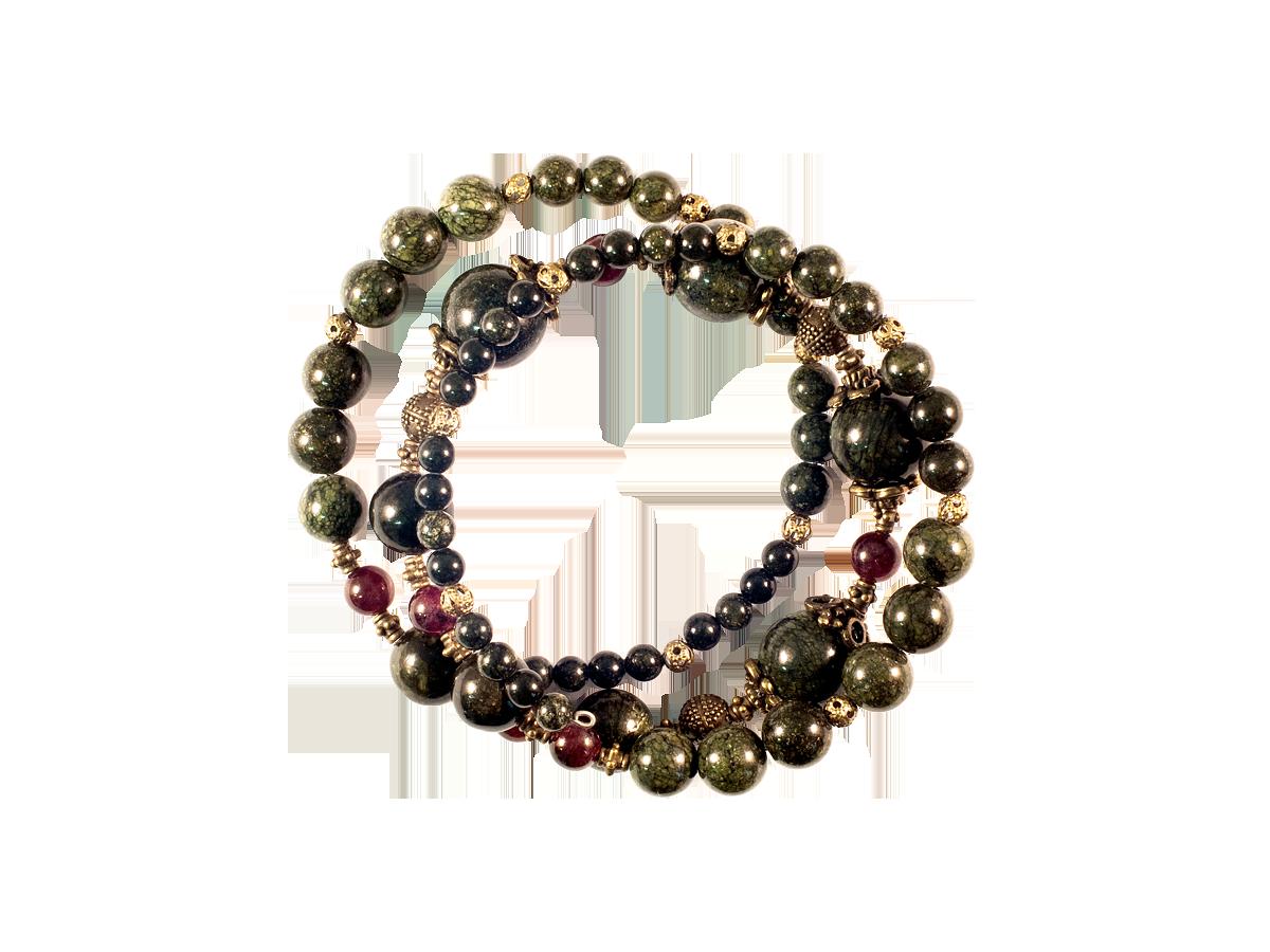 Браслет спиральный с серьгами (комплект)