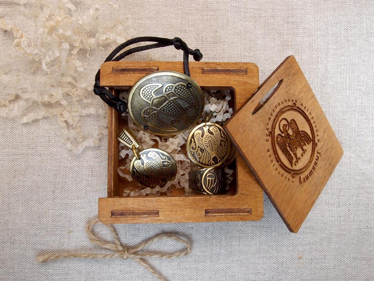 Комплект украшений «Сокол» № 2 в подарочной упаковке