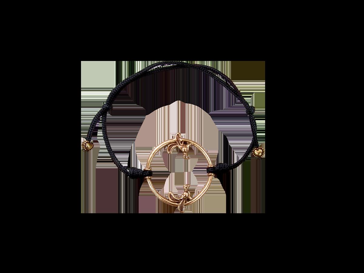 Браслет-шнурок «Птички в кольце»