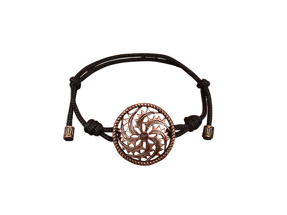 Браслет-шнурок «Правосторонний огненный коловрат»
