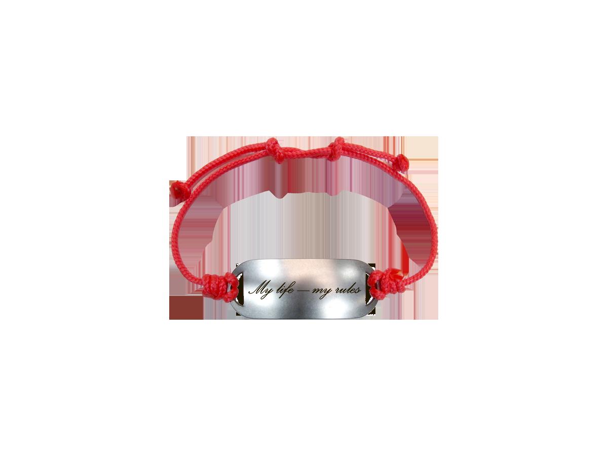 Bracelet-lace «My life - my rules»